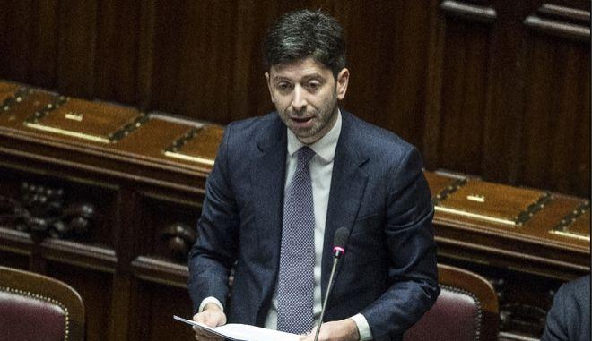O Ιταλός υπουργός Υγείας Ρομπέρτο Σπεράντσα