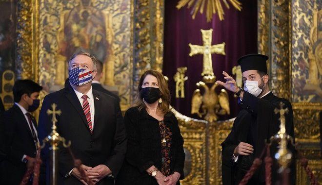Επίσκεψη του Πομπέο στο Οικουμενικό Πατριαρχείο