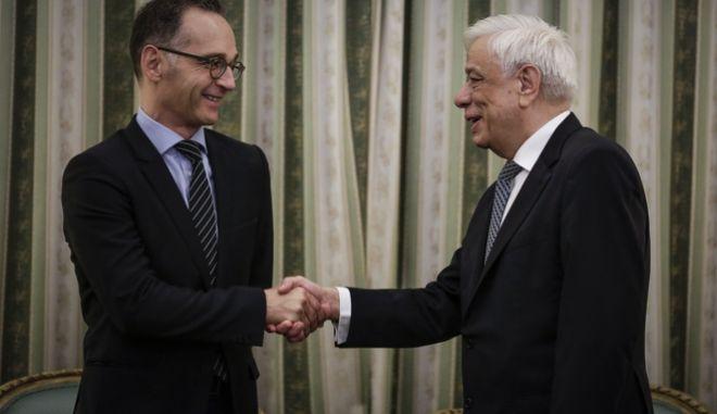 Συνάντηση του Προέδρου της Δημοκρατίας Προκόπη Παυλόπουλου, με τον υπουργό Εξωτερικών της Ομοσπονδιακής Δημοκρατίας της Γερμανίας  Χάικο Μάας