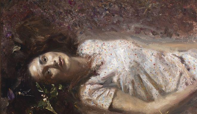 Γυναίκα ξαπλωμένη στο χώμα (2018)  του Γιώργου Ρόρρη, Λάδι σε καμβά