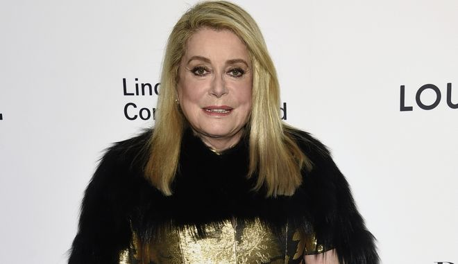 "FILE- In this Nov. 30, 2017, file photo, Catherine Deneuve attends the Lincoln Center Corporate Fund Gala honoring Louis Vuitton artistic director of women's collections Nicolas Ghesquiere, at Alice Tully Hall in New York. Deneuve was among about 100 performers, scholars and others who signed an open letter published Tuesday, Jan. 9, 2018, by the newspaper Le Monde saying the ""legitimate protest against sexual violence"" stemming from the Harvey Weinstein scandal has gone too far and threatens hard-won sexual freedoms. (Photo by Evan Agostini/Invision/AP, File)"