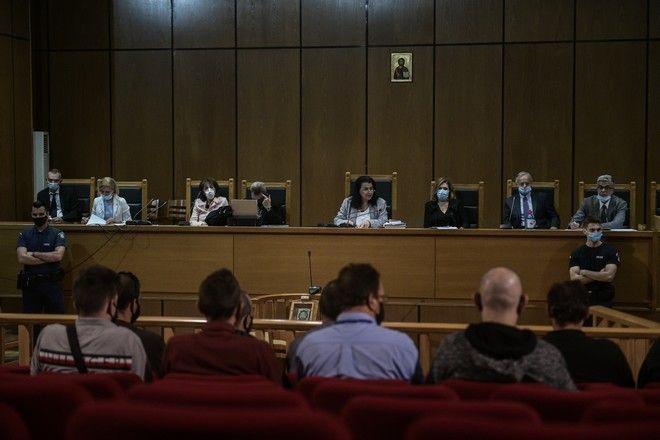 Ανακοίνωση των ποινών στην δίκη της Χρυσής Αυγής την Τετάρτη 14 Οκτωβρίου 2020. (EUROKINISSI/ΤΑΤΙΑΝΑ ΜΠΟΛΑΡΗ)