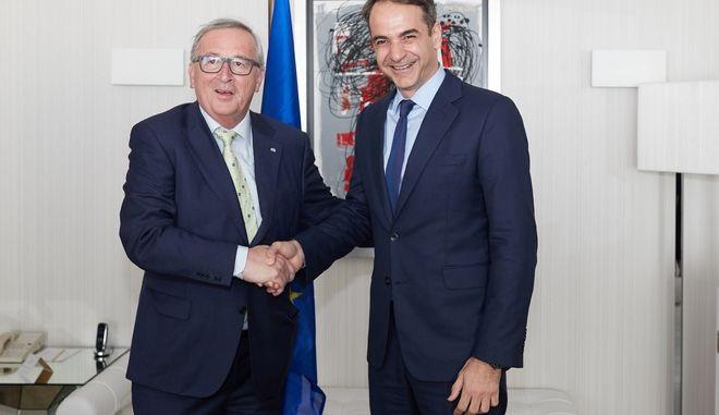Συνάντηση του Προέδρου της Ν.Δ. Κυριάκου Μητσοτάκη με τον Πρόεδρο της Ευρωπαικής Επιτροπής Jean-Claude Juncker την Πέμπτη 26 Απριλίου 2018.