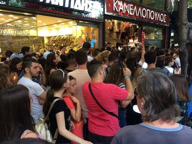 Χαμός στη Θεσσαλονίκη για να δουν τους παίκτες του Survivor. Έκλεισε η Τσιμισκή!