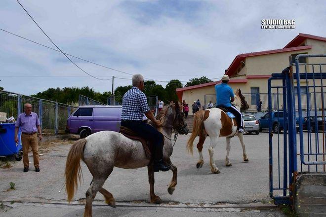 Πήγαν να ψηφίσουν με άλογα