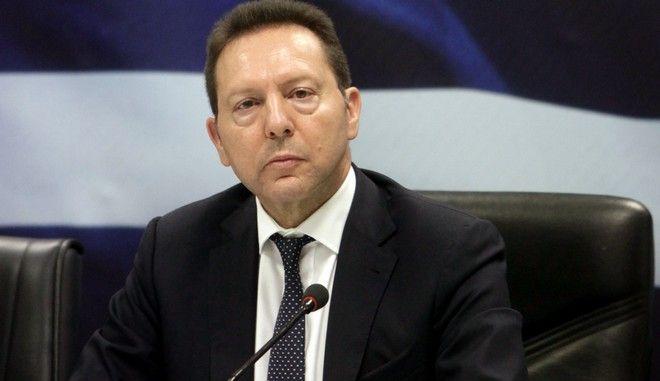 Ο υπουργός Οικονομικών, Γιάννης Στουρνάρας,ενημερώνει τους δημοσιογράφους για την ελληνική προεδρία του Συμβουλίου της Ευρωπαϊκής Ένωσης, την Τρίτη 7 Ιανουαρίου 2014. (EUROKINISSI/ΓΕΩΡΓΙΑ ΠΑΝΑΓΟΠΟΥΛΟΥ)