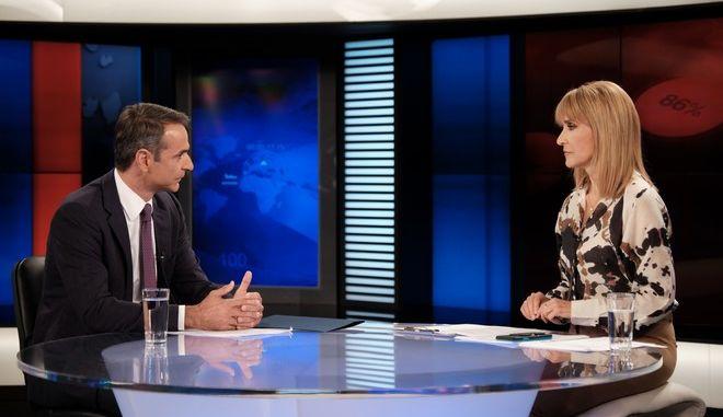 Συνέντευξη του Προέδρου της Νέας Δημοκρατίας Κυριάκου Μητσοτάκη στο κεντρικό δελτίο ειδήσεων του Star
