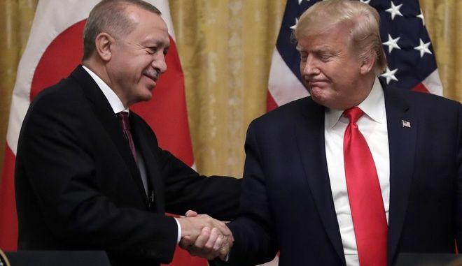 Ο Ρετζέπ Ταγίπ Ερντογάν και ο Ντόναλντ Τραμπ (φωτογραφία αρχείου)