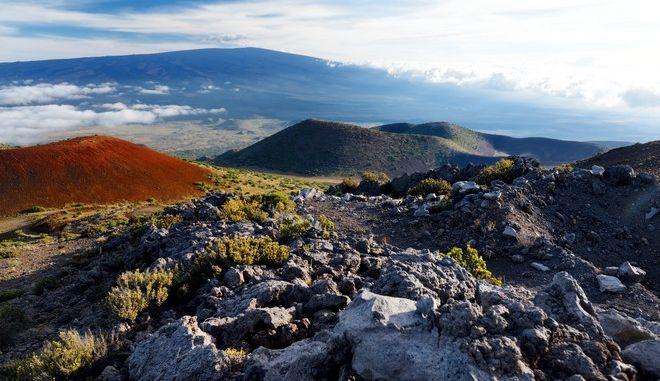 Εικόνα από το ηφαίστειο Μάουνα Λόα στη Χαβάη