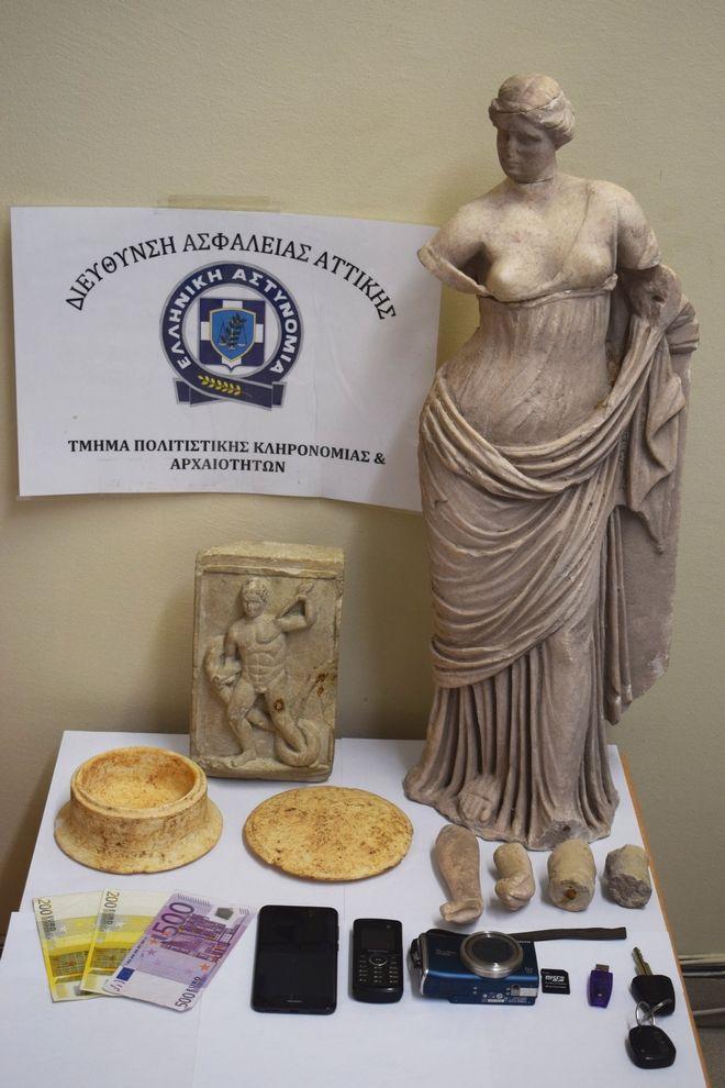 Τα αρχαία αντικείμενα μεγάλης αξίας που εντόπισε η αστυνομία