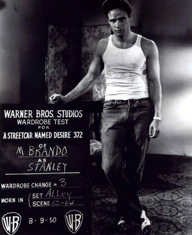 Ο Μarlon Brando έγινε η καλύτερη διαφήμιση του tank top στην ταινία 'Ο Λεωφορείο ο Πόθος'.