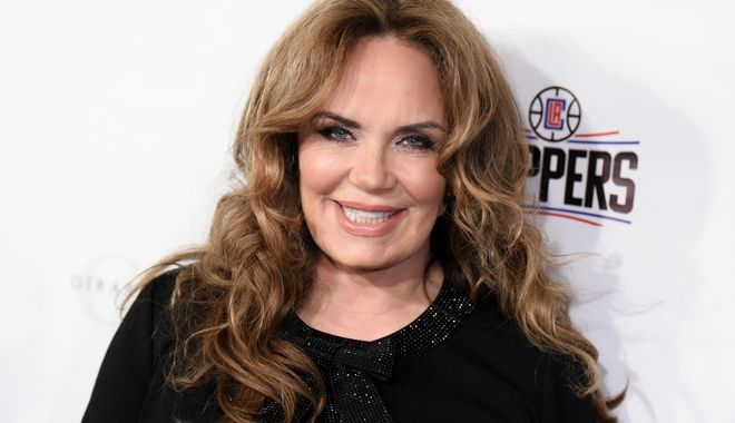 Actress Catherine Bach arrives at the 14th Annual LAPD Eagle & Badge Foundation Gala held at the Century Plaza Hotel on Saturday Oct. 17, 2015, in Los Angeles. (Photo by Richard Shotwell/Invision/AP)