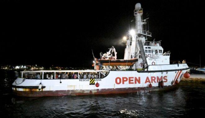 """Το πλοίο """"Open Arms"""""""