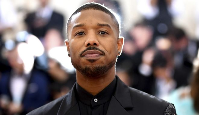 """Michael B. Jordan attends The Metropolitan Museum of Art's Costume Institute benefit gala celebrating the opening of the """"Camp: Notes on Fashion"""" exhibition on Monday, May 6, 2019, in New York. (Photo by Charles Sykes/Invision/AP)"""
