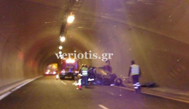 Τραγωδία στην Εγνατία: Νεκρός 22χρονος σε τροχαίο σε τούνελ
