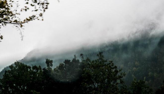 Βροχερή μέρα στα Τζουμέρκα