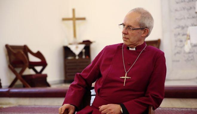 Ο αρχιεπίσκοπος του Καντέρμπουρι Τζάστιν Ουέλμπι