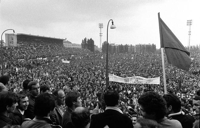Συγκέντρωση εργατών και φοιτητών στο Παρίσι τον Μάιο του 1968