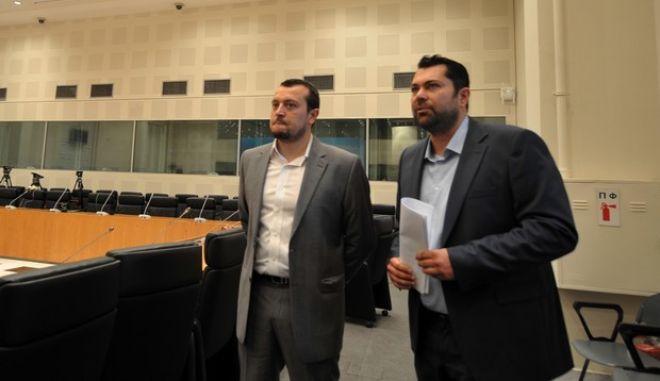 Παρουσιάση στα ΜΜΕ του Κέντρου Τύπου για το δημοψήφισμα στο Ζάππειο Μέγαρο το Σάββατο 4 Ιουλίου 2015. Το Κέντρο Τύπου λειτουργεί από την Παρασκευή 3 Ιουλίου έως και την Κυριακή 5 Ιουλίου για την εξυπηρέτηση των αναγκών και την διευκόλυνση του έργου των Ελλήνων και ξένων εκπροσώπων των ΜΜΕ καθώς και των ανταποκριτών Ξένου Τύπου στην Ελλάδα που θα καλύψουν το δημοψήφισμα. Η παρουσίαση έγινε από τον Γενικό Γραμματέα Ενημέρωσης και Επικοινωνίας Ελευθέριο Κρέτσος και τον υπουργό Επικρατείς Νίκο Παππά. (EUROKINISSI/ΤΑΤΙΑΝΑ ΜΠΟΛΑΡΗ)