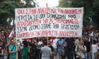 Πορεία κατά του νομοσχεδίου για τις διαδηλώσεις