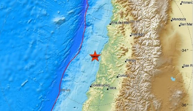 Ισχυρός σεισμός 6,8 Ρίχτερ στη Χιλή