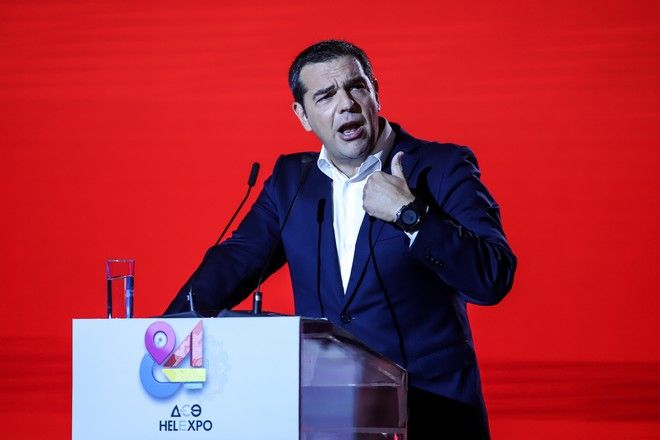 Ο πρόεδρος του ΣΥΡΙΖΑ στο βήμα της 84ης ΔΕΘ