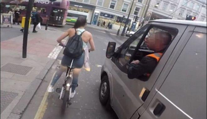 Ο απίστευτος τρόπος που ποδηλάτισσα εκδικήθηκε οδηγό που την παρενόχλησε