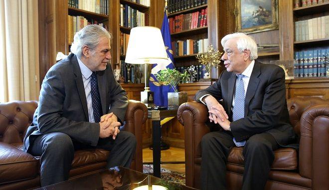 Συνάντηση του Προέδρου της Δημοκρατίας με τον Επίτροπο Χρ. Στυλιανίδη
