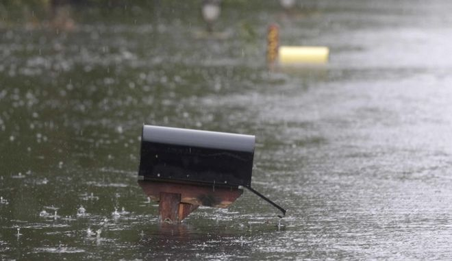 Το ύψος της πλημμύρας που προκάλεσε η Φλόρενς στο Νιούπορτ