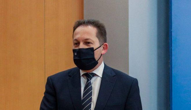 Ο αναπληρωτής υπουργός Εσωτερικών Στέλιος Πέτσας