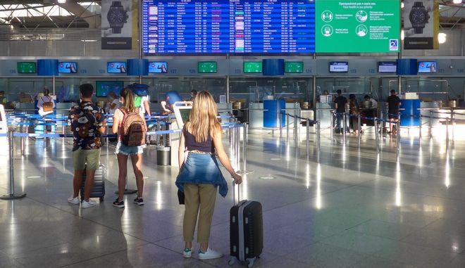 Εικόνα από το αεροδρόμιο Ελ. Βενιζέλος