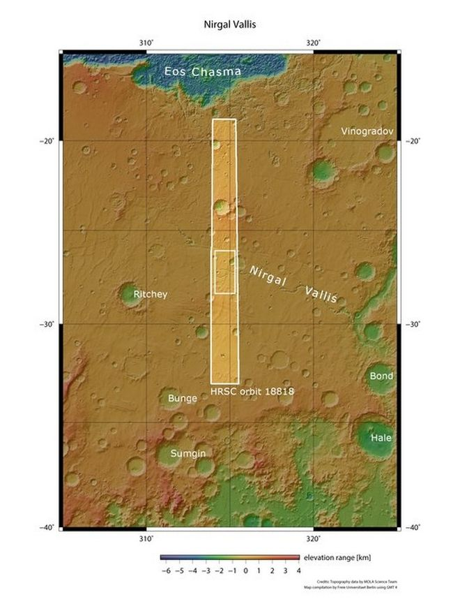 Φωτογραφίες αρχαίων κοιλάδων στον Άρη