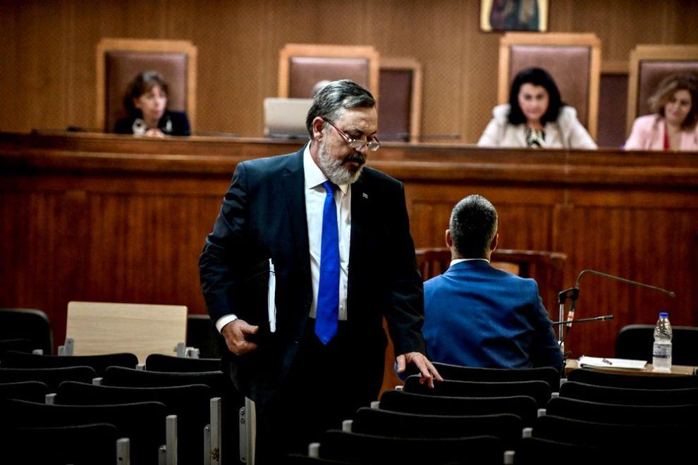 Μία από τις τελευταίες φωτογραφίες του Χρήστου Παππά στο δικαστήριο, στις 22 Οκτωβρίου του 2019