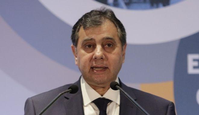 O Πρόεδρος του Εμπορικού και Βιομηχανικού Επιμελητηρίου Πειραιά Βασίλης Κορκίδης