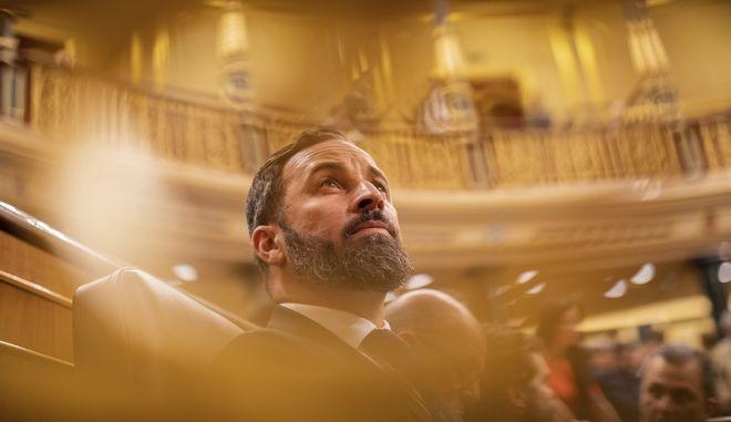 Ο πρόεδρος του Vox, Σαντιάγο Αβασκάλ