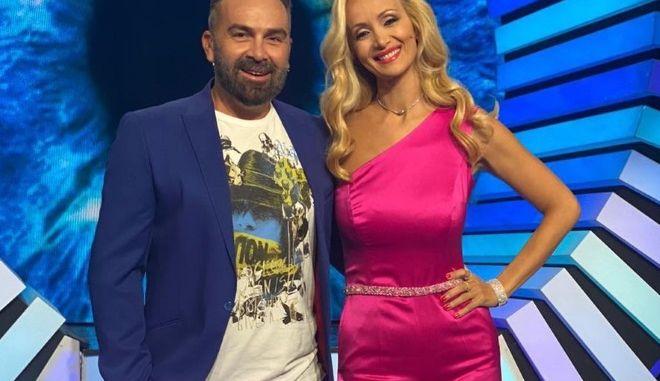 Ο Γρηγόρης Γκουντάρας και η Ναταλί Κάκκαβα