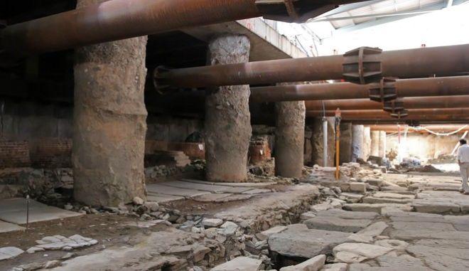 Στον σταθμό Βενιζέλου του υπό κατασκευή μετρό Θεσσαλονίκης