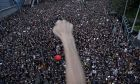 Εικόνα από την μεγάλη διαδήλωση στο Χονγκ Κονγκ