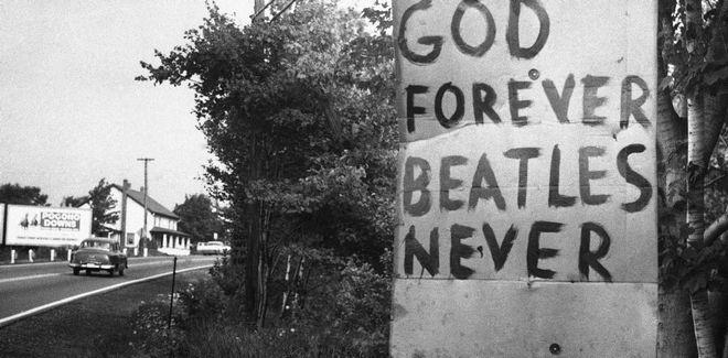 Σύνθημα σε τοίχο για τους Beatles
