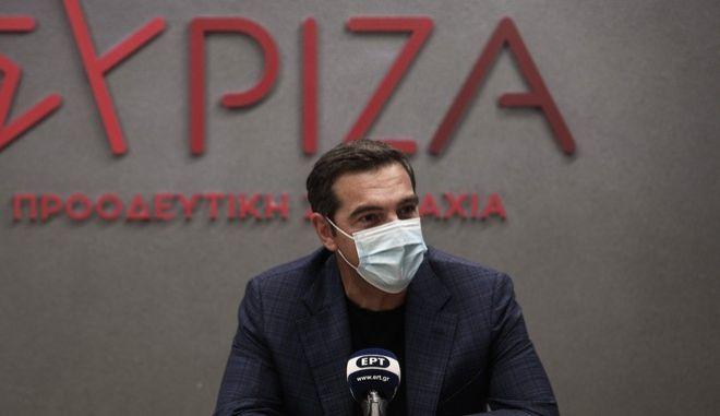 Ο πρόεδρος του ΣΥΡΙΖΑ - ΠΣ, Αλέξης Τσίπρας