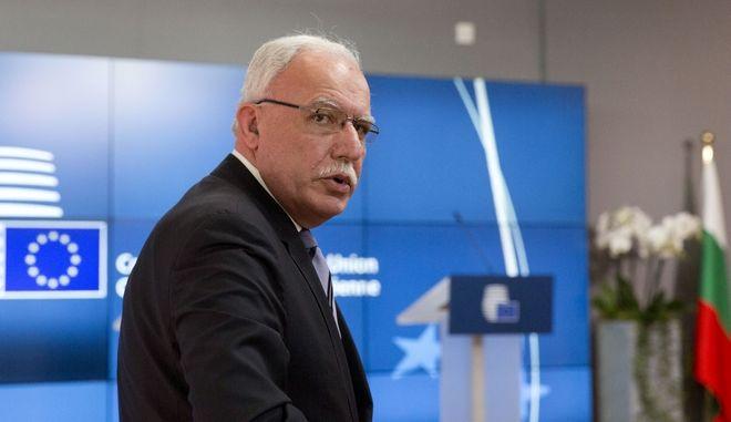 Ο Παλαιστίνιος υπουργός Εξωτερικών Ριγιάντ αλ Μάλικι