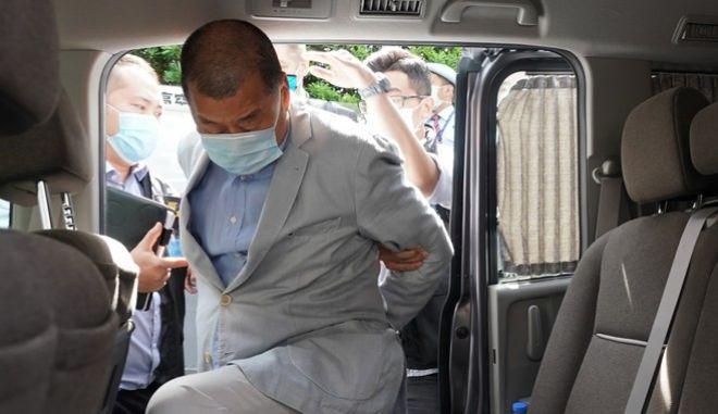 Σύλληψη του Τζίμι Λάι - Μεγιστάνα των ΜΜΕ στο Χονγκ Κονγκ