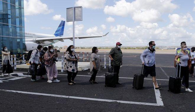 Στιγμιότυπο από το αεροδρόμιο του Μπαλί