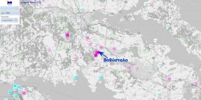 Πολικό ψύχος τον Μάρτιο: Οι -26.7 °C στον Παρνασσό και το φαινόμενο της Ψυχρής Δολίνης