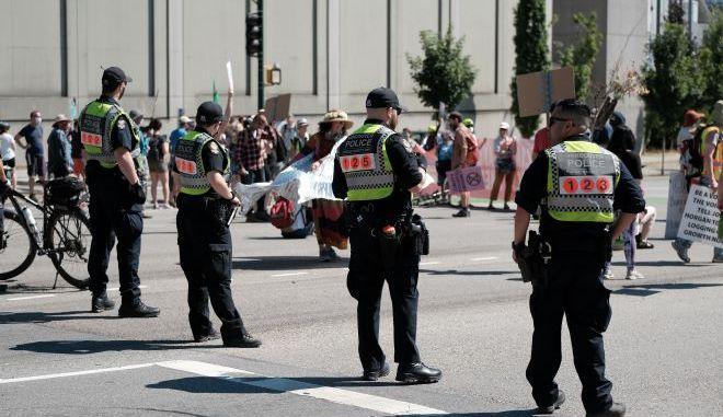 Αστυνομία σε διαδήλωση στον Καναδά (φωτογραφία αρχείου)