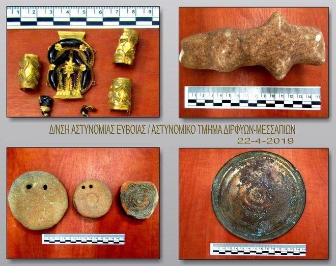 Συνελήφθη στην Εύβοια αρχαιοκάπηλος ύστερα από λαθρανασκαφή σε αρχαίο τάφο