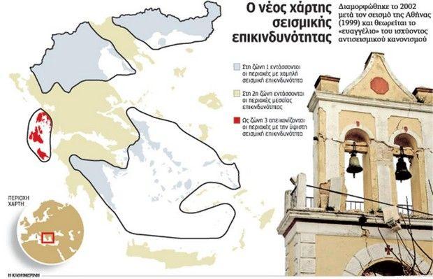 Ποιες περιοχές στην Ελλάδα κινδυνεύουν από ισχυρό σεισμό
