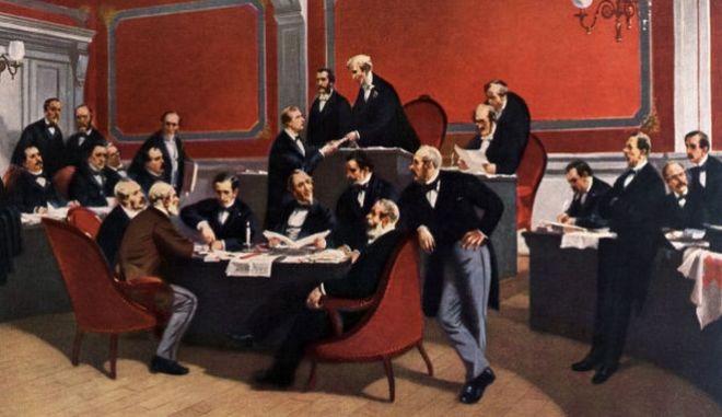 Η υπογραφή της Συνθήκης της Γενεύης.