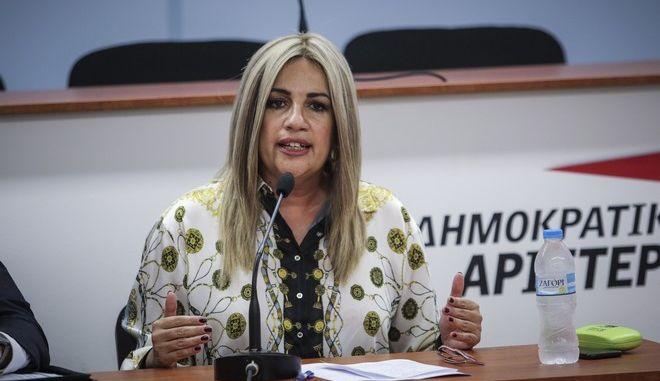 Η επικεφαλής του ΚΙΝΑΛ, κατά τη συνεδρίαση της Εκτελεστικής Γραμματείας του Κινήματος Αλλαγής