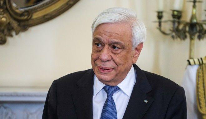 Ο Πρόεδρος της Δημοκρατίας Προκόπης Παυλόπουλος στο Προεδρικό Μέγαρο